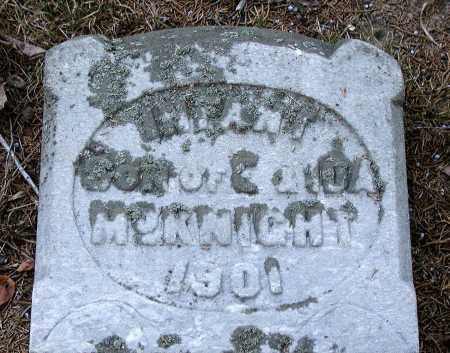 MCKNIGHT, INFANT SON - Meigs County, Ohio | INFANT SON MCKNIGHT - Ohio Gravestone Photos