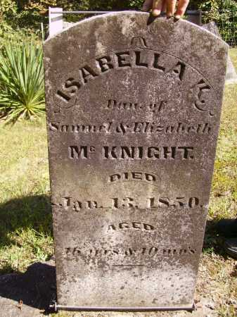 MCKNIGHT, ISABELLA K. - Meigs County, Ohio | ISABELLA K. MCKNIGHT - Ohio Gravestone Photos