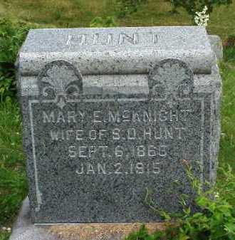 HUNT, MARY E. MCKINGHT - Meigs County, Ohio | MARY E. MCKINGHT HUNT - Ohio Gravestone Photos