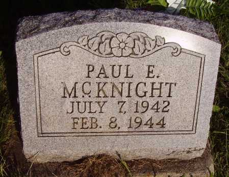 MCKNIGHT, PAUL E. - Meigs County, Ohio | PAUL E. MCKNIGHT - Ohio Gravestone Photos