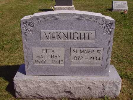 MCKNIGHT, SUMNER W. - Meigs County, Ohio | SUMNER W. MCKNIGHT - Ohio Gravestone Photos