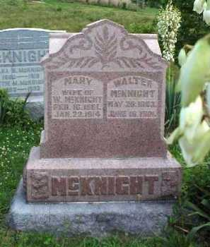 MCKNIGHT, WALTER - Meigs County, Ohio | WALTER MCKNIGHT - Ohio Gravestone Photos
