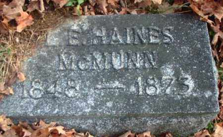 MCMUNN, L.E. HAINES - Meigs County, Ohio | L.E. HAINES MCMUNN - Ohio Gravestone Photos