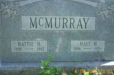 MCMURRAY, HAYS M. - Meigs County, Ohio | HAYS M. MCMURRAY - Ohio Gravestone Photos
