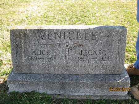 MCNICKLE, LEONSO - Meigs County, Ohio | LEONSO MCNICKLE - Ohio Gravestone Photos