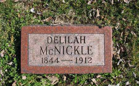 MCNICKLE, DELILAH - Meigs County, Ohio | DELILAH MCNICKLE - Ohio Gravestone Photos