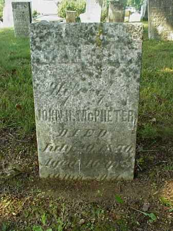 MCPHETER, MARTHA - Meigs County, Ohio | MARTHA MCPHETER - Ohio Gravestone Photos
