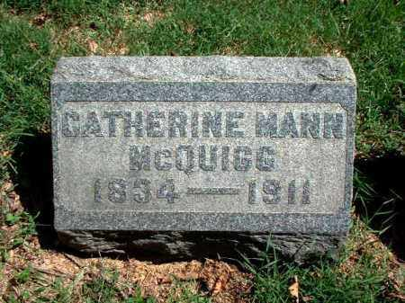 MANN MCQUIGG, CATHERINE - Meigs County, Ohio | CATHERINE MANN MCQUIGG - Ohio Gravestone Photos
