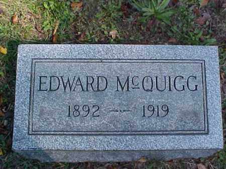 MCQUIGG, EDWARD - Meigs County, Ohio | EDWARD MCQUIGG - Ohio Gravestone Photos