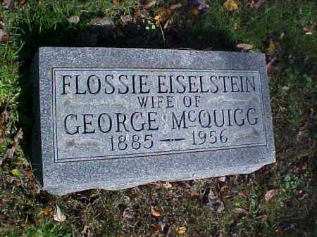 MCQUIGG, FLOSSIE - Meigs County, Ohio | FLOSSIE MCQUIGG - Ohio Gravestone Photos
