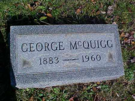MCQUIGG, GEORGE - Meigs County, Ohio | GEORGE MCQUIGG - Ohio Gravestone Photos