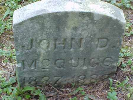 MCQUIGG, JOHN D. - Meigs County, Ohio | JOHN D. MCQUIGG - Ohio Gravestone Photos