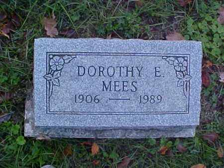 MEES, DOROTHY E. - Meigs County, Ohio | DOROTHY E. MEES - Ohio Gravestone Photos