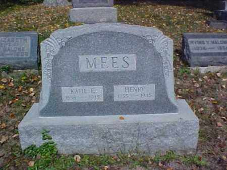 MEES, KATIE E. - Meigs County, Ohio | KATIE E. MEES - Ohio Gravestone Photos