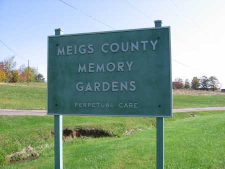 MEIGS COUNTY MEMORY GARDEN CEM, SIGN - Meigs County, Ohio | SIGN MEIGS COUNTY MEMORY GARDEN CEM - Ohio Gravestone Photos