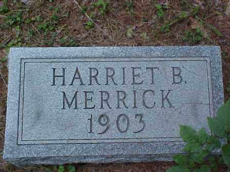 MERRICK, HARRIET B. - Meigs County, Ohio | HARRIET B. MERRICK - Ohio Gravestone Photos