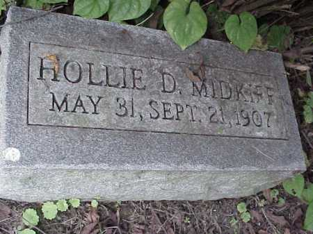 MIDKIFF, HOLLIE D. - Meigs County, Ohio | HOLLIE D. MIDKIFF - Ohio Gravestone Photos