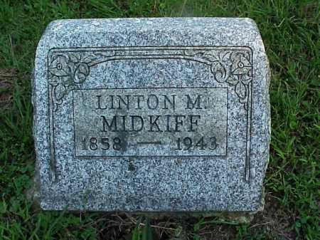 MIDKIFF, LINTON M. - Meigs County, Ohio | LINTON M. MIDKIFF - Ohio Gravestone Photos