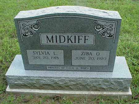 MIDKIFF, ZIBA O. - Meigs County, Ohio | ZIBA O. MIDKIFF - Ohio Gravestone Photos