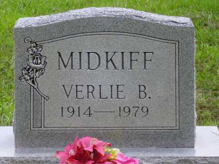 MIDKIFF, VERLIE B. - Meigs County, Ohio | VERLIE B. MIDKIFF - Ohio Gravestone Photos