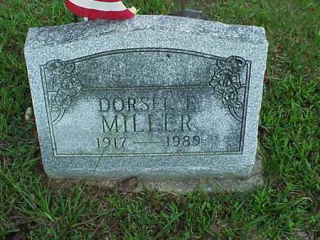 MILLER, DORSEL E. - Meigs County, Ohio | DORSEL E. MILLER - Ohio Gravestone Photos
