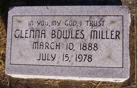 BOWLES MILLER, GLENNA - Meigs County, Ohio | GLENNA BOWLES MILLER - Ohio Gravestone Photos