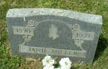 MILLER, JANIE - Meigs County, Ohio | JANIE MILLER - Ohio Gravestone Photos