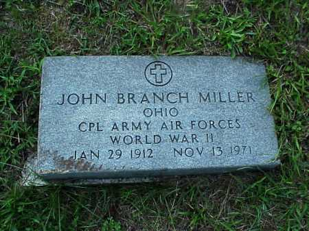 MILLER, JOHN BRANCH - Meigs County, Ohio | JOHN BRANCH MILLER - Ohio Gravestone Photos