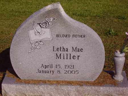 MILLER, LETHA MAE - Meigs County, Ohio | LETHA MAE MILLER - Ohio Gravestone Photos