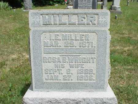 WRIGHT MILLER, ROSA B. - Meigs County, Ohio | ROSA B. WRIGHT MILLER - Ohio Gravestone Photos