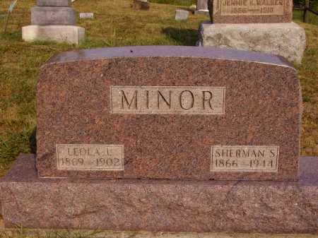 MINOR, SHERMAN S. - Meigs County, Ohio | SHERMAN S. MINOR - Ohio Gravestone Photos