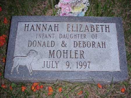 MOHLER, HANNAH ELIZABETH - Meigs County, Ohio | HANNAH ELIZABETH MOHLER - Ohio Gravestone Photos