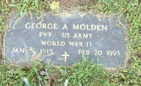 MOLDEN, GEORGE A. - Meigs County, Ohio   GEORGE A. MOLDEN - Ohio Gravestone Photos