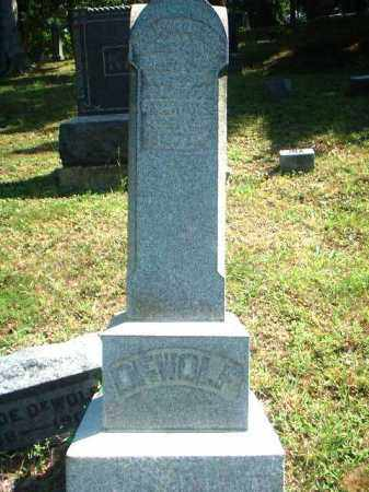MONUMENT, DEWOLF - Meigs County, Ohio | DEWOLF MONUMENT - Ohio Gravestone Photos