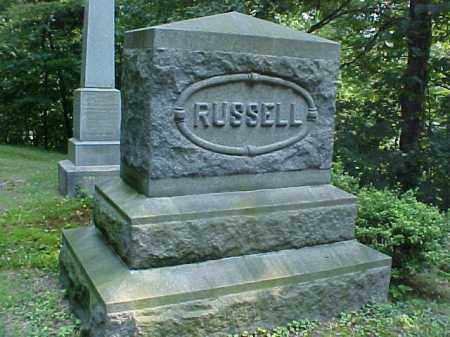 MONUMENT, RUSSELL - Meigs County, Ohio | RUSSELL MONUMENT - Ohio Gravestone Photos