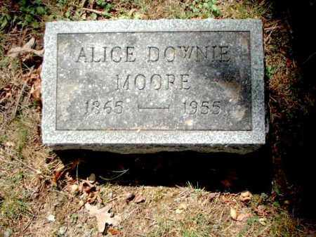DOWNIE MOORE, ALICE - Meigs County, Ohio | ALICE DOWNIE MOORE - Ohio Gravestone Photos