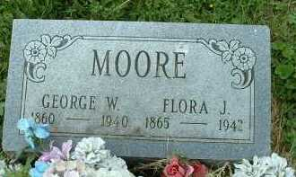 MOORE, FLORA J. - Meigs County, Ohio | FLORA J. MOORE - Ohio Gravestone Photos