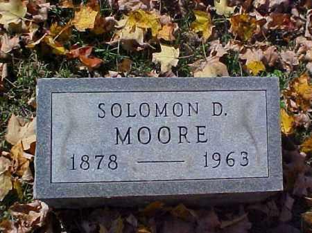 MOORE, SOLOMON D. - Meigs County, Ohio | SOLOMON D. MOORE - Ohio Gravestone Photos