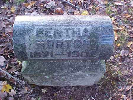 MORTON, BERTHA - Meigs County, Ohio | BERTHA MORTON - Ohio Gravestone Photos