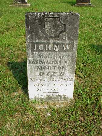 MORTON, JOHN W. - Meigs County, Ohio | JOHN W. MORTON - Ohio Gravestone Photos