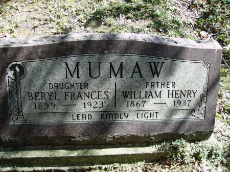 MUMAW, WILLIAM HENRY - Meigs County, Ohio | WILLIAM HENRY MUMAW - Ohio Gravestone Photos