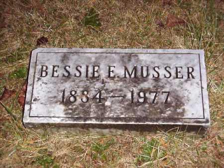 MUSSER, BESSIE E. - Meigs County, Ohio | BESSIE E. MUSSER - Ohio Gravestone Photos