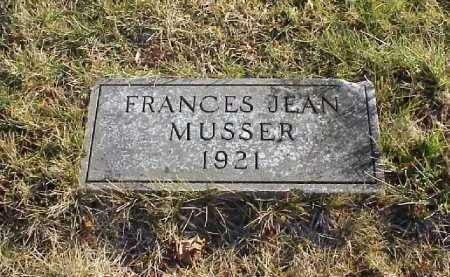 MUSSER, FRANCES JEAN - Meigs County, Ohio | FRANCES JEAN MUSSER - Ohio Gravestone Photos