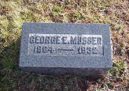 MUSSER, GEORGE E. - Meigs County, Ohio | GEORGE E. MUSSER - Ohio Gravestone Photos