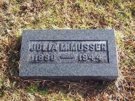 MUSSER, JULIA M. - Meigs County, Ohio | JULIA M. MUSSER - Ohio Gravestone Photos