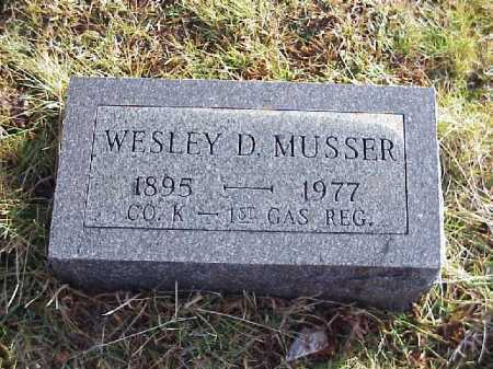 MUSSER, WESLEY D. - Meigs County, Ohio | WESLEY D. MUSSER - Ohio Gravestone Photos