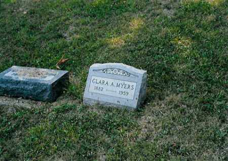 MYERS, CLARA A. - Meigs County, Ohio | CLARA A. MYERS - Ohio Gravestone Photos