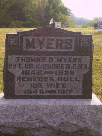 HULL MYERS, REBECCA - Meigs County, Ohio | REBECCA HULL MYERS - Ohio Gravestone Photos