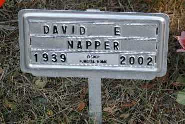 NAPPER, DAVID E. - Meigs County, Ohio | DAVID E. NAPPER - Ohio Gravestone Photos