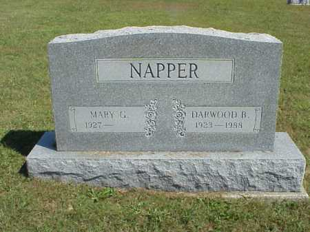 NAPPER, DARWOOD B. - Meigs County, Ohio | DARWOOD B. NAPPER - Ohio Gravestone Photos